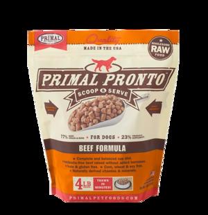 Primal Raw Pronto Formulas Canine Beef Pronto Formula