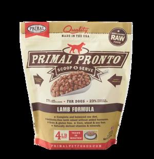 Primal Raw Pronto Formulas Canine Lamb Pronto Formula