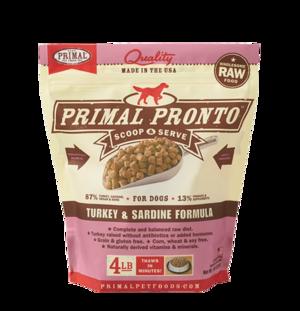 Primal Raw Pronto Formulas Canine Turkey and Sardine Pronto Formula