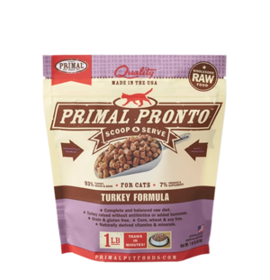 Primal Raw Pronto Formulas Feline Turkey Pronto Formula