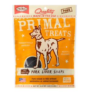 Primal Treats Pork Liver Snaps