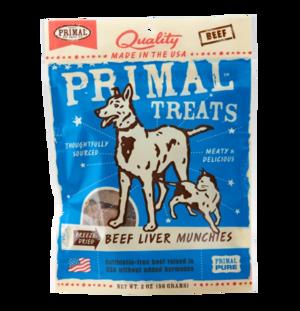 Primal Treats Beef Liver Munchies