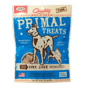 Primal Treats Pork Liver Munchies