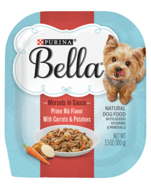 Purina Bella Morsels In Sauce Prime Rib Flavor With Carrots & Potatoes