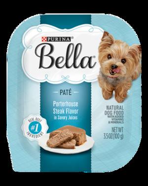 Purina Bella Wet Dog Food Porterhouse Steak Flavor (Paté)