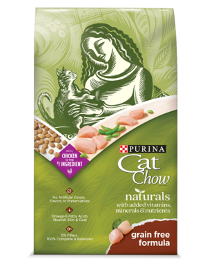 Purina Cat Chow Naturals Grain Free Formula With Real Chicken
