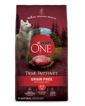 Purina One SmartBlend True Instinct Grain-Free Formula With Beef & Sweet Potato