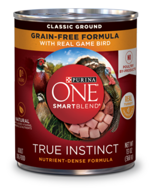 Purina One SmartBlend True Instinct Grain-Free Formula With Real Game Bird (Classic Ground)