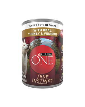 Purina One SmartBlend True Instinct With Real Turkey & Venison (Tender Cuts In Gravy)