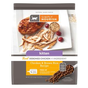 Simply Nourish Kitten Cat Food Chicken & Brown Rice Recipe ...