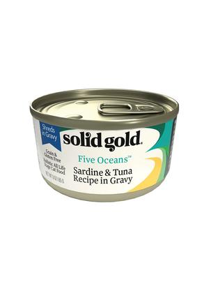 Solid Gold Five Oceans Sardine & Tuna Recipe In Gravy