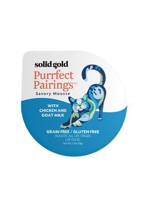 Solid Gold Purrfect Pairings Savory Mousse With Chicken and Goat Milk