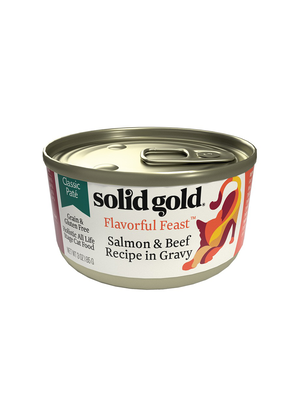 Solid Gold Flavorful Feast Salmon & Beef Recipe In Gravy Classic Pate