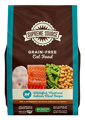 Supreme Source Grain Free Dry Cat Food Whitefish Meal and Salmon Meal Recipe