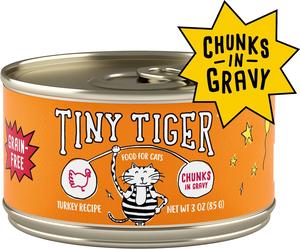 Tiny Tiger Grain-Free Chunks In Gravy Turkey Recipe