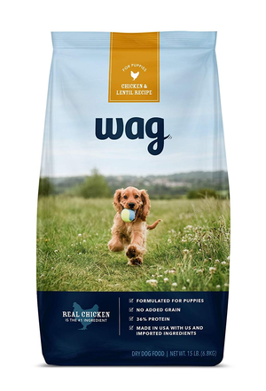 Wag (An Amazon Brand) Dry Dog Food Chicken & Lentil Recipe For Puppies