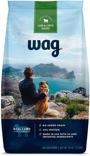 Wag (An Amazon Brand) Dry Dog Food Lamb & Lentil Recipe For All Life Stages
