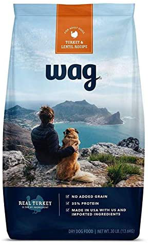 Wag (An Amazon Brand) Dry Dog Food Turkey & Lentil Recipe For Adult Dogs
