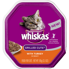 Whiskas Grilled Cuts With Turkey In Gravy