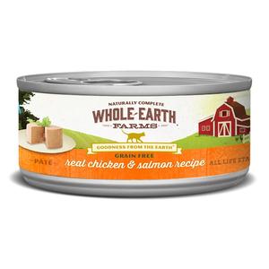 Whole Earth Farms Grain Free Canned Chicken & Salmon Recipe Pate