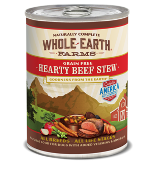 Whole Earth Farms Grain Free Canned Hearty Beef Stew For Dogs