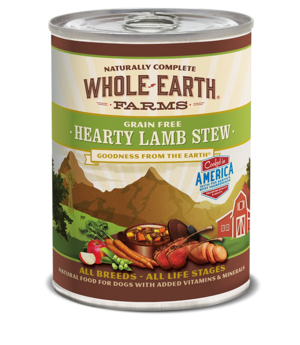Whole Earth Farms Grain Free Canned Hearty Lamb Stew For Dogs
