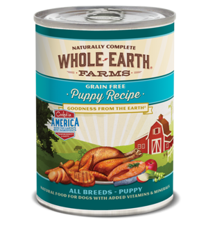 Whole Earth Farms Grain Free Canned Puppy Recipe