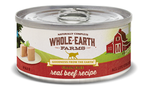 Whole Earth Farms Grain Free Canned Real Beef Recipe Pate