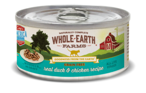 Whole Earth Farms Grain Free Canned Real Duck & Chicken Recipe Morsels In Gravy