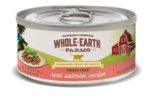 Whole Earth Farms Grain Free Canned Real Salmon Recipe Morsels In Gravy