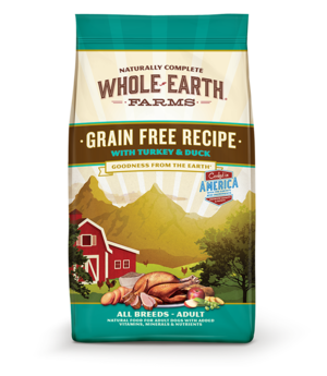 Whole Earth Farms Grain Free Recipe With Turkey & Duck For Dogs