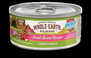 Whole Earth Farms Grain Free Small Breed Recipe Lamb Dinner