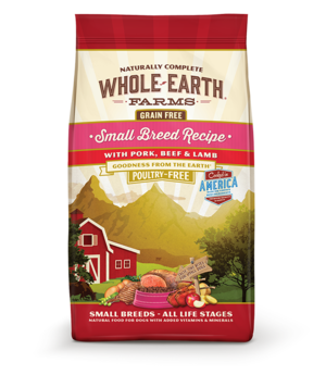 Whole Earth Farms Grain Free Small Breed Recipe With Pork, Beef & Lamb For Dogs
