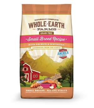 Whole Earth Farms Grain Free Small Breed Recipe With Salmon & Whitefish For Dogs