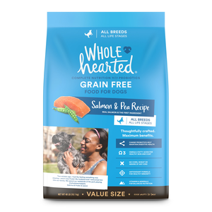 Wholehearted Grain Free Dry Dog Food Salmon Amp Pea Recipe