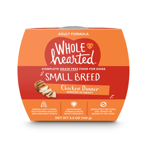 Wholehearted Grain Free Small Breed Chicken Dinner Minced