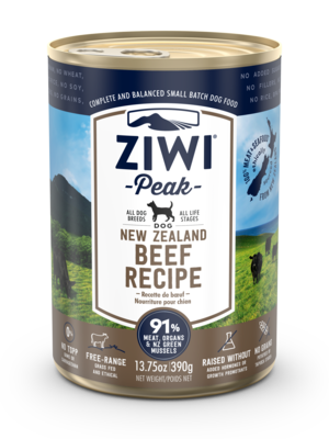 Ziwi Peak Canned Dog Food New Zealand Beef Recipe Review